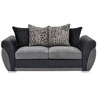Product photograph showing Hilton Fabric And Faux Leather Scatter Back Sofa Bed