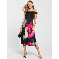 V By Very Scuba Printed Prom Dress - Floral Print