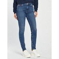 Hilfiger Denim Santana High Rise Skinny Jeans - Mid Blue, Soto Mid Blue, Size 32, Inside Leg Regular, Women