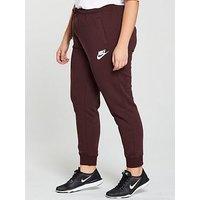 Nike Sporstwear Rally Jog Pant (Curve) - Burgundy , Burgundy, Size 26-28=3X, Women