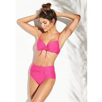 V by Very Mix & Match Moulded Underwired Bikini Top - Hot Pink , Hot Pink, Size 32D, Women