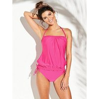 V by Very Mix & Match Mid Rise Bikini Brief - Hot Pink, Hot Pink, Size 14, Women
