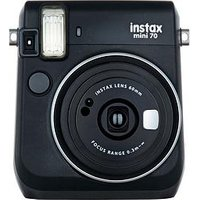 Fujifilm Instax Mini 70 Instant Camera With 10 Or 30 Pack Of Paper - Black - Instant Camera With 10 Pack Of Paper