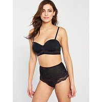 V by Very Smooth T-shirt Bra - Black, Black, Size 32B, Women