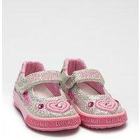 Lelli Kelly Lelli Kelly Ava Baby Dolly Embellished Shoe, Silver, Size 6 Younger