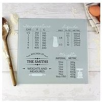Personalised Conversions Glass Chopping Board, One Colour, Women