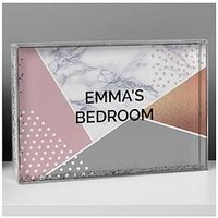 Personalised Geometric Glitter Shake It Block