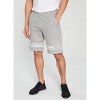 adidas Originals Spirit Outline Shorts - Medium Grey Heather, Medium Grey Heather, Size M, Men