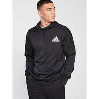adidas Team Issue Overhead Hoodie, Black, Size L, Men