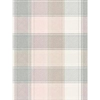 Product photograph showing Arthouse Pink And Grey Check Wallpaper