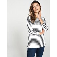 Joules Harbour Stripe Top, Multi, Size 16, Women