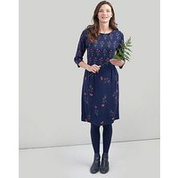 Joules Beth 3/4 Sleeves Dress - Navy, Navy, Size 14, Women