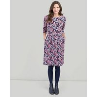 Joules Beth 3/4 Sleeves Ponte Dress - Floral, Floral, Size 14, Women