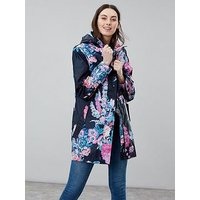 Joules Joules Golightly Waterproof Packaway Jacket, Navy, Size 14, Women