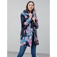 Joules Joules Golightly Waterproof Packaway Jacket, Navy, Size 10, Women