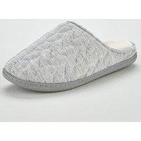 V by Very Wallow Twist Detail Slipper Mule - Grey, Grey, Size M, Women