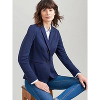 Joules Mollie Jersey Blazer - Navy, Navy, Size 10, Women
