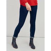 Joules Monroe Skinny Stretch Jeans - Indigo, Indigo, Size 12, Inside Leg Regular, Women