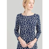 Joules Harbour Hearts Top, Navy, Size 16, Women