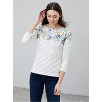 Joules Harbour Floral Top, Navy, Size 14, Women