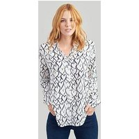 Joules Joules Elvina Heart Woven Blouse, Navy, Size 10, Women