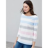 Joules Harbour Stripe Top, Navy, Size 12, Women