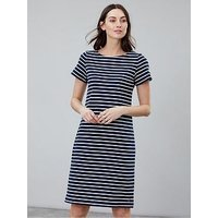 Joules Riviera Stripe Long Dress, Navy, Size 14, Women