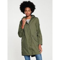 Joules Joules Rainelong Printed Waterproof Jacket, Grapeleaf, Size 14, Women