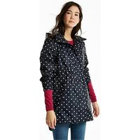 Joules Golightly Waterproof Packaway Jacket - Navy , Navy, Size 8, Women