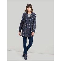 Joules Golightly Waterproof Packaway Jacket - Navy , Navy, Size 10, Women