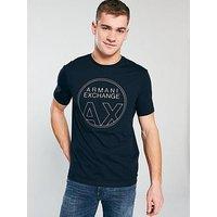Armani Exchange Armani Exchange Chest Logo T-shirt, Navy, Size 2Xl, Men