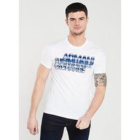 Armani Exchange Graphic Logo T-Shirt - White, White, Size Xl, Men