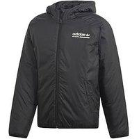 adidas Originals Boys Kaval Jacket, Black, Size 11-12 Years