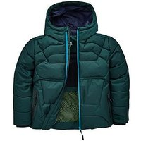 Baker by Ted Baker Boys Mock Down Padded Coat, Green, Size Age: 10 Years