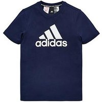 adidas Boys Mh Bos Tee, Navy, Size 5-6 Years