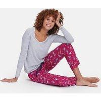 Joules Luna Ls Jersey Top, Grey, Size 14, Women
