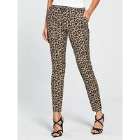 V by Very Animal Jacquard Trouser, Animal, Size 8, Women