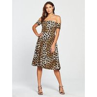 V by Very Leopard Prom Dress - Printed, Print, Size 8, Women