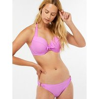 Accessorize Fuller Bust Plunge Triangle - Lilac, Lilac, Size 32E, Women