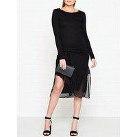 Allsaints Riviera Miro Asymmetric Dress - Black