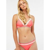 Accessorize Hawaii Triangle Top - Coral, Coral, Size 12, Women
