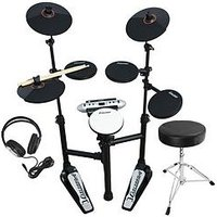Carlsbro Compact Electronic Drum Kit Bundle With Free Online Music Lessons