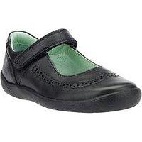 Start-rite Lizzy Girls Strap Shoe, Black, Size 2 Older