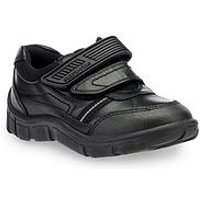 Start-rite Luke Boys Twin Strap Shoe, Black, Size 10 Younger