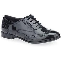 Start-rite Start-Rite Matilda Older Girls Patent Brogue Shoe, Black Patent, Size 5.5 Older
