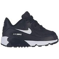 Nike Air Max 90 Ltr Bt Infant Trainers - Black/White , Black/White/Red, Size 6