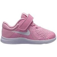 Nike Revolution 4 Infant Trainers, Pink/White, Size 9