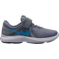 Nike Revolution 4 Childrens Trainers, Grey/Blue, Size 13
