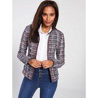 V by Very Boucle Jacket - Multi, Multi, Size 20, Women