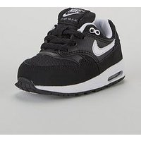 Nike Air Max 1 Bt Infant Trainers, Black/White, Size 9